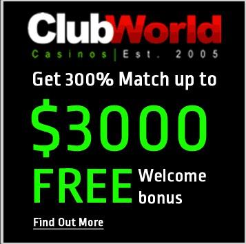 Club World Casinos No Deposit Bonus