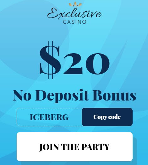 Exclusive Casino no deposit bonus codes 2021 - $95 Free Chip