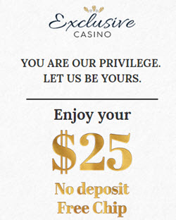 Exclusive Casino no deposit bonus codes 2019 - $5 Free Chip