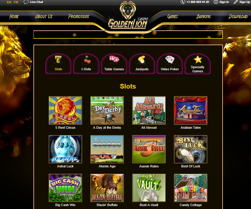 Golden Lion Casino No Deposit Bonus 2020