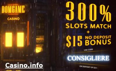 DomGame Casino no deposit bonus codes 2019