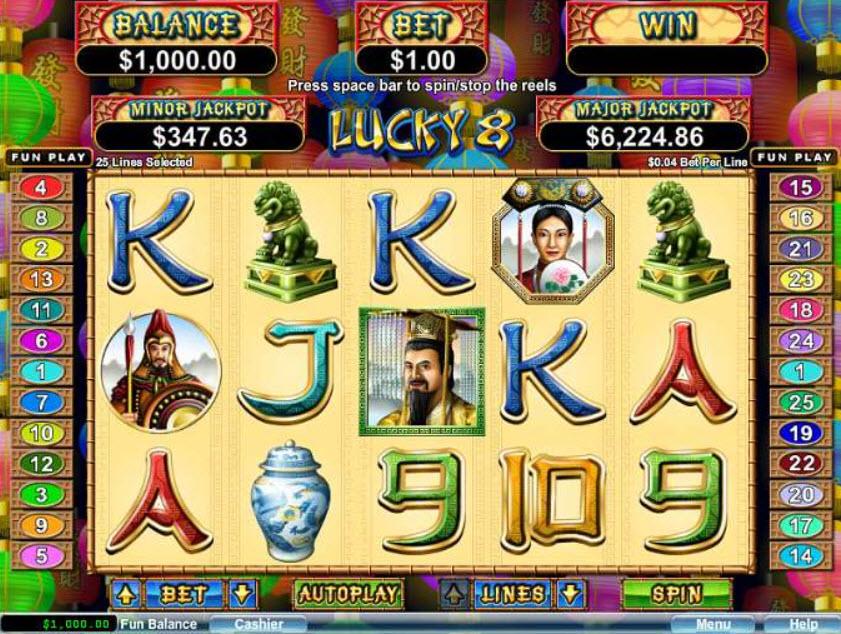 Lucky 8 Online Slot