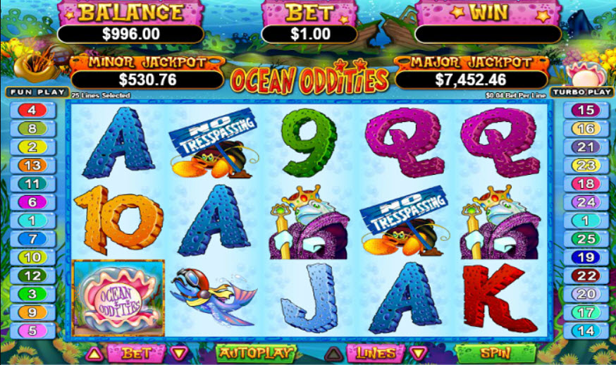 Play Ocean Oddities Slot Machine Free With No Download
