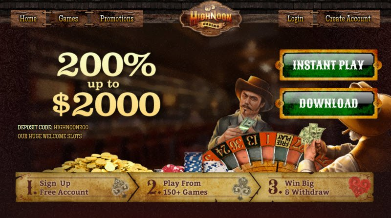 High Noon Casino No Deposit Bonus