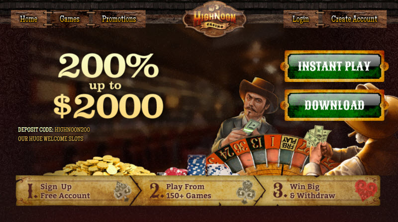 High Noon No Deposit Bonus Codes 2021