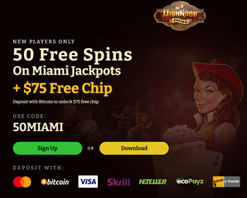 High Noon Casino - (50 Free Spins)