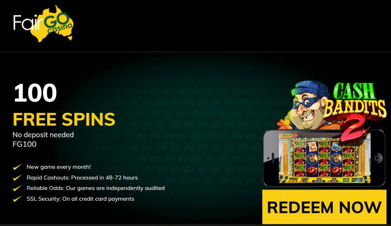 Fair Go Casino No Deposit Bonus Codes 100 Free Spins