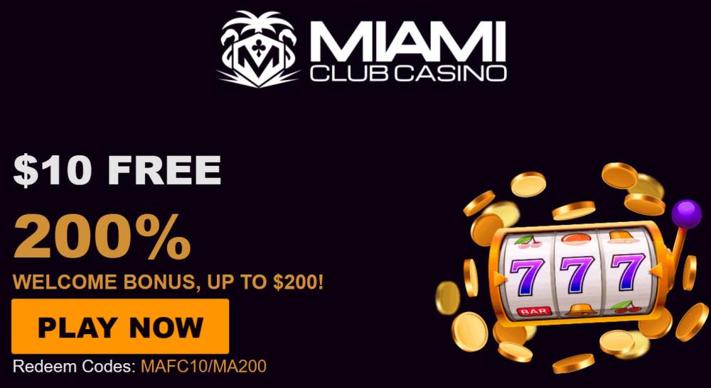 Miami Club Casino Sign Up Bonus