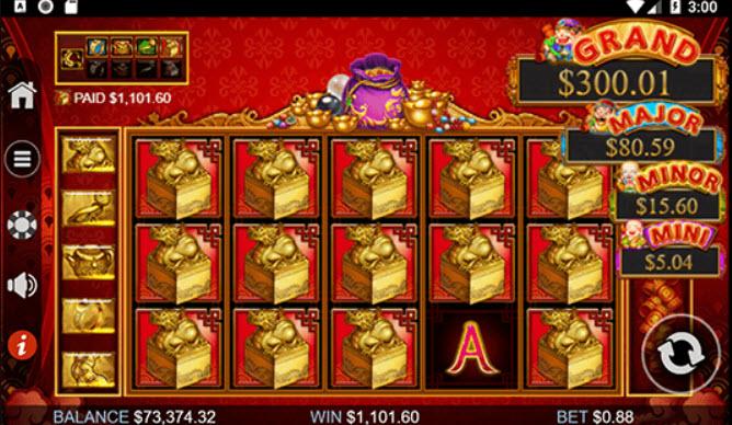 Plentiful treasure slot