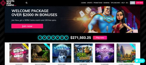 Sports and Casino ($50 Free Spins)