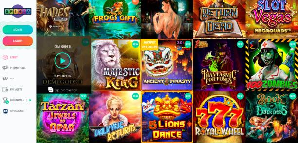 Spinia Casino Games