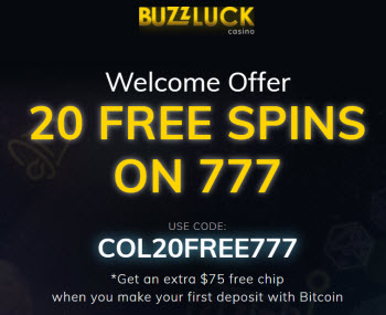 Buzzluck Casino (20 Free Spins)